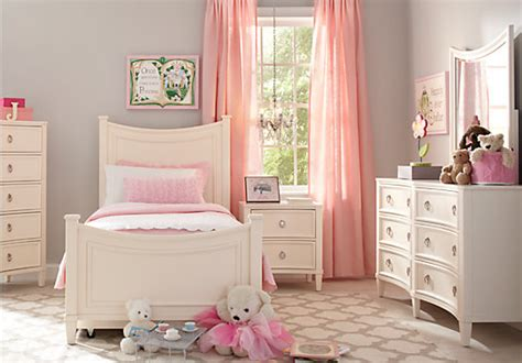 Jaclyn Place Ivory 5 Pc Twin Panel Bedroom