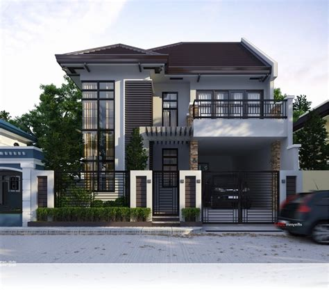 Unique Images Two Story House Plans With Terrace Home