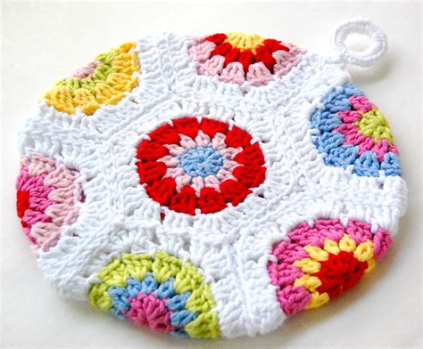 crochet potholders hopscotch lane two potholders