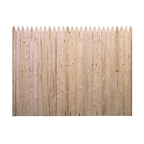 barrette  ft    ft  flat rough sawn stockade fence