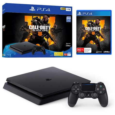 playstation 4 console playstation 4 slim 1tb black console with call of duty