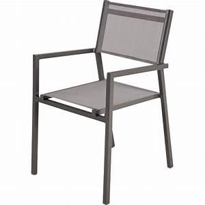 Fauteuil Jardin Aluminium : fauteuil de jardin en aluminium niagara gris leroy merlin ~ Teatrodelosmanantiales.com Idées de Décoration