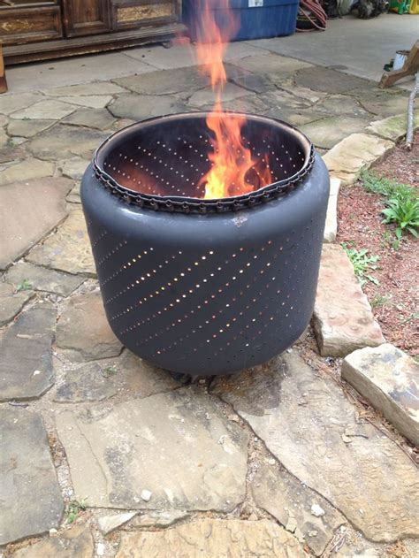 Fire Pit I Made From An Old Washer Tub  Diy Projects