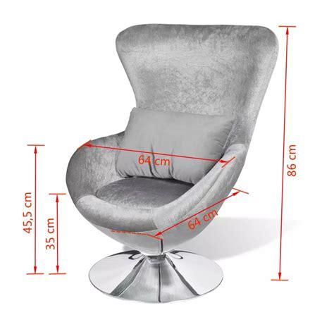 chaise pivotante pas cher acheter chaise œuf pivotante avec coussin argent pas cher vidaxl fr