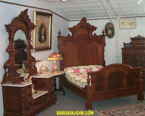 outstanding  piece antique victorian walnut bedroom set