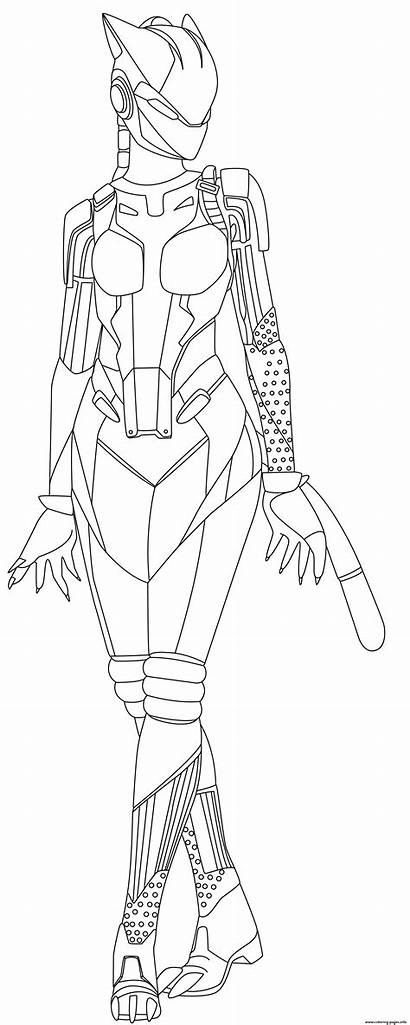 Fortnite Coloring Pages Lynx Printable Info