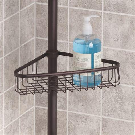 interdesign york constant tension corner shower caddy