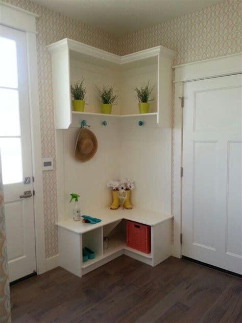 Corner Entryway Storage - corner mudroom bench home decor organizing ideas