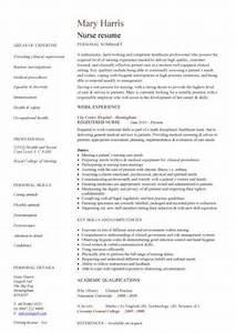 Cover Letter For Nurse Resumes Nursing Cv Template Nurse Resume Examples Sample