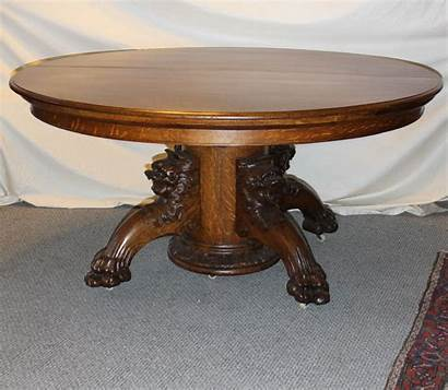Claw Feet Lion Dining Oak Carved Round