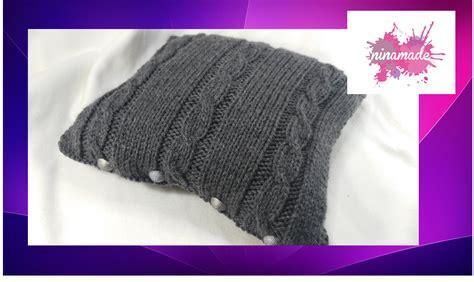 comment faire un pouf en tricot diy comment faire des torsades housse pour coussin