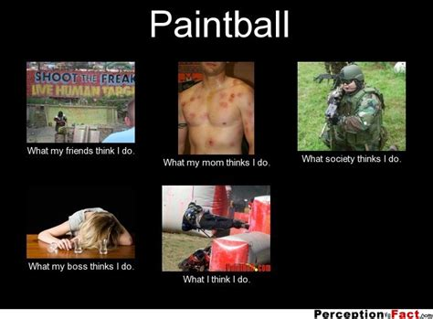 Paintball... - What people think I do, what I really do ...
