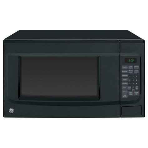 ge countertop microwave shop ge 1 4 cu ft 1100 watt countertop microwave black