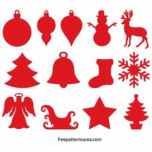 Winter And Christmas Ornament Cutouts Wood Templates