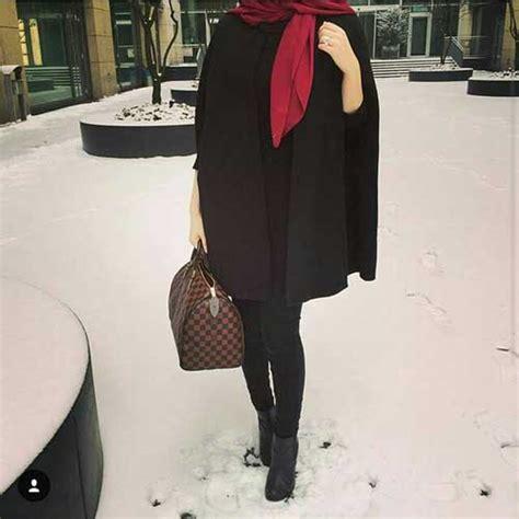 wear poncho  hijab  trendy girls