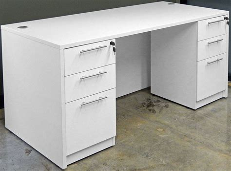 modern white desk with drawers white u shaped workstation w hutch