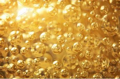Gold Background Bubble Texture Abstract Creative