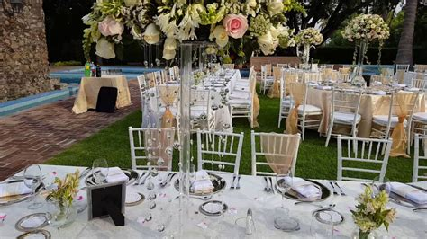 df decoracion  boda en jardin youtube