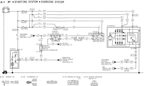 mazda rx  starting system  charging system wiring