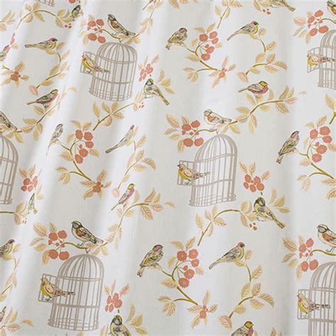 iliv smd song bird fabric in terracotta at the designer