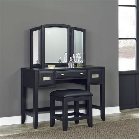 black makeup vanity home styles prescott 2 black vanity set 5514 72