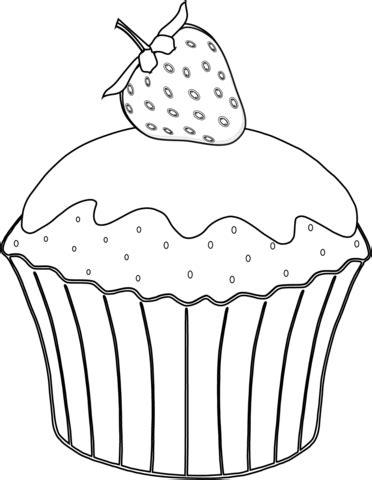 jeux de cuisines gratuits coloriage muffin aux fraises coloriages à imprimer