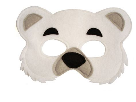 childrens animal polar bear felt mask magical attic