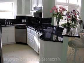 Black Cabinets With Marble Countertops by Black Galaxy Granite Countertop With Cabinet