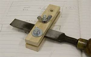 Making a Sharpening jig for holding chisels and bench