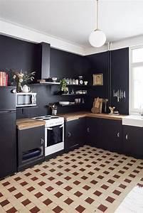 Home, Renovation, Black, Kitchen, Walls