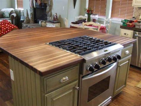 smart laminate wood countertop idea  small kitchen island  freestanding stove top