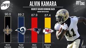 Alvin Kamara is the highest graded running back through ...