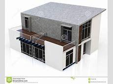 Maison 3d Duplex Moderne Illustration Stock Image 47284160