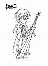 Dante Dmc Jadedragonne Deviantart Coloring Printable Drawings Sheets Lineart Adult Hell Bayonetta Sword Digi Template Piercings sketch template