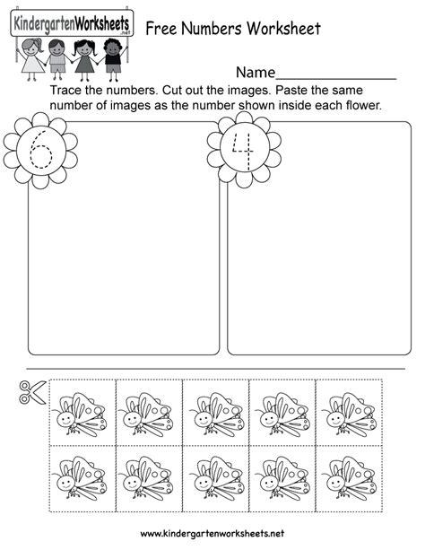 numbers worksheet  kindergarten math worksheet
