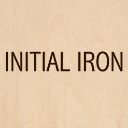 custom branding iron  initials design standard head
