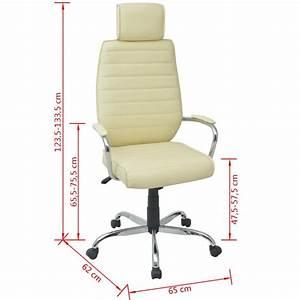 Chaise De Bureau Solde : acheter vidaxl chaise de bureau cuir pu cr me pas cher ~ Teatrodelosmanantiales.com Idées de Décoration