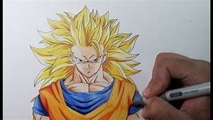 Drawing Goku Ssj3 Super Saiyan 3 Youtube