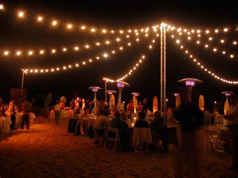 beach string lights  freestanding truss tower bella