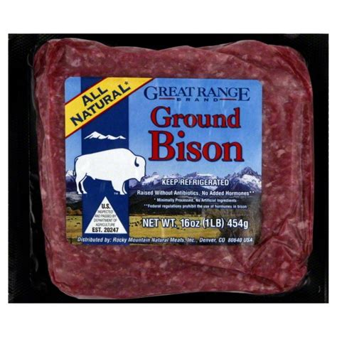 Great Range Buffalo Ground Bison (20 oz) from Costco ...