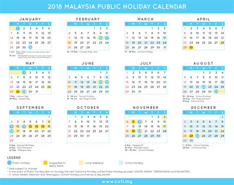 malaysia public holidays calendar cutimy travel trips