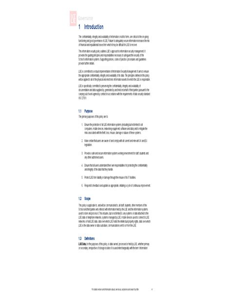 information security policy document template information security policy uk free