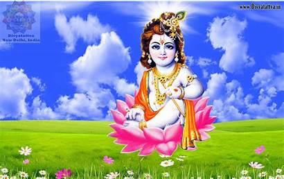 Krishna Lord Wallpapers Desktop Childhood Vrindavan 1080p