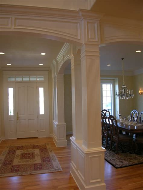 traditional stair  painted wainscoting traditional