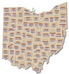Printable Ohio Map with Counties