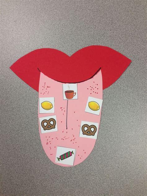 five senses craft sense of taste tongue map visit www