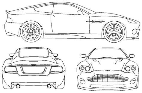2006 Aston Martin Vanquish V12 Coupe Blueprints Free