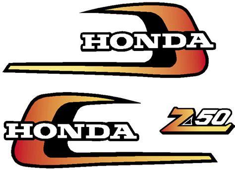 honda z50 1975 tank decals sidecover logo ebay