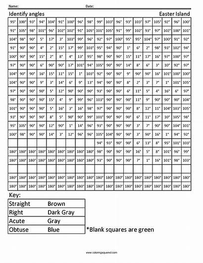 Math 4th Grade Coloring Worksheets Pages Printable