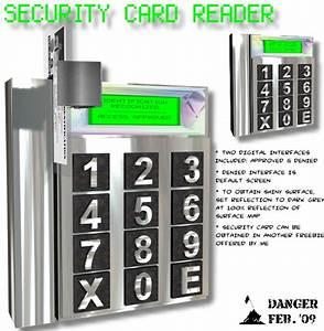 Security Card Reader - 3d Model